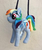Awesome Rainbow Dash Pony Bag by Lady-with-a-buzzsaw