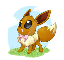Eon the Eevee by InkieHeart