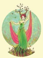 Spring Dryad Revisited by puppeteer-for-kings