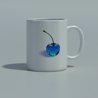 Rainbow Cherries - Mug - Clear Blue by THE-LEMON-WATCH
