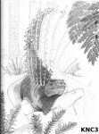 Old Stuff:  Edaphosaurus by painted-wolfs-den