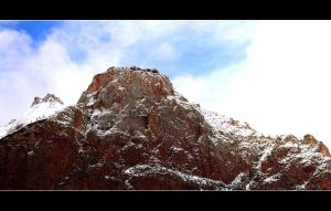 Red Rock in the Snow by SequelPolice