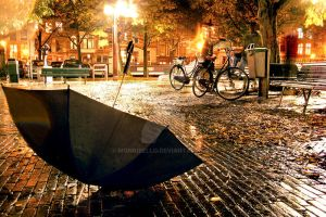 one rainy Amsterdam night by Mongibello