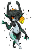 Sketchy Midna by Metal-Kitty