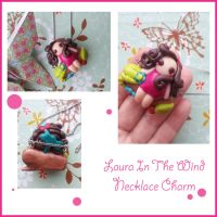 Laura In The Wind Necklace Charm by FantasySystem