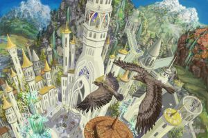 Hurin and Huor are landing in Gondolin by Mysilvergreen