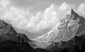 Snow mountain concept by Darkpaw2001