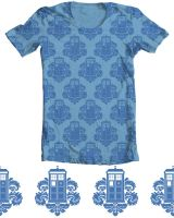 TARDamask T shirt on Threadles by TRAVALE