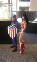 Captain America + Wonder Woman by Cliffather