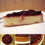 Lemon Sponge Cake with Cranberry Topping by flameshaft