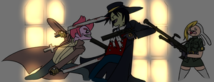 Marshall Lee Vs. Prince Gumbal by Axcell1ben