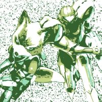 Samus Aran and Fox McCloud Pop Art by DevintheCool