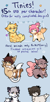 [CLOSED] cheap tinies commissions by Hidabat