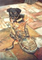Adorable - Oil Painting by AstridBruning