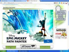 Epic Mickey Path Painter Game by swarlock64