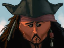 Jack sparrow sketch by bangalore-monkey