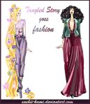 Rapunzel and Mother Gothel by Sashiiko-Anti