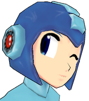 MMD MegaMan - Wink by Ran-Constantine