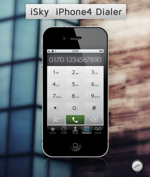 iSky iPhone4 Dialer by FloStyler0408