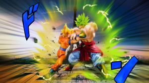 Dragon Ball S H Figuarts Goku Vs Broly by mjd360