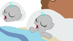 MLP Base - Filly and Colt - Sleeping by AraragiBases