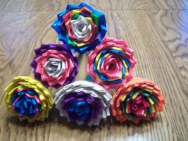 My Little Pony Duct Tape Flower Pens by LishaChan