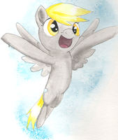Derpy Hooves Watercolor by Shadestepwarrior