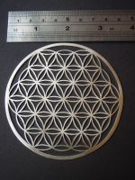 Large Handcut Sterling Silver Flower of Life by jeanburgers