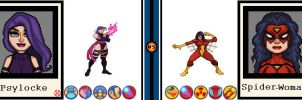 AvsX - Psylocke vs. Spider-Woman by GEEKINELL