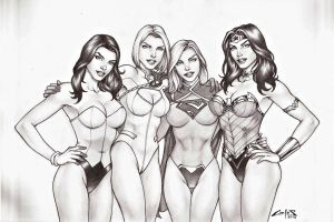 DC GIRLS 2 !!! by carlosbragaART80