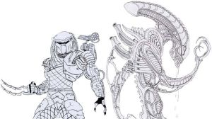 Alien and Predator by necronomicon32