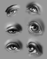 Eye study by MonikaZagrobelna