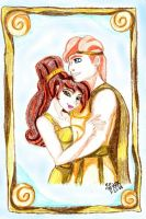 Megara and Hercules in Gold by IsisConstantine