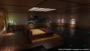 WIP 3 Japanese swimming room by MichelSay