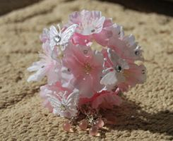 Happy Cherry Blossom Kanzashi by myloko