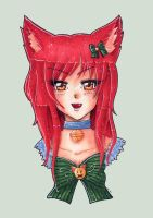 Red cat girl by Solceress