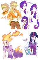 Human-Ponys by s0901