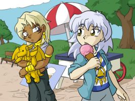 Marik and Bakura... bein cute. by ChaosKomori