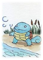Squirtle Sketch Card by melllic