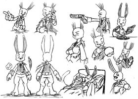 Mr Bunnyleone Char Sheet Ink by N647