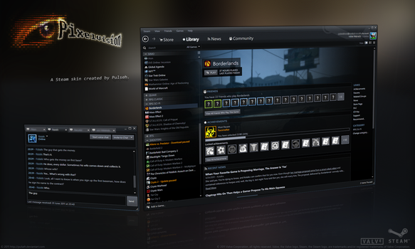 PixelVision - Skin for Steam by pulseh
