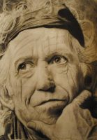 Keith Richards - rolling stones by Plishman