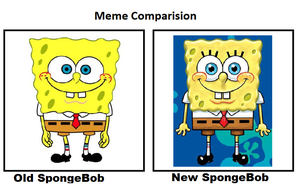 Old SpongeBob and New SpongeBob Comparision by cartoonfanboyone
