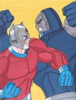 New Gods- Orion vs Darkseid by RobertMacQuarrie1