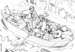 Three Men in a Boat by ChateNoire
