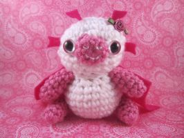 Amigurumi Pink Flower Dragon by AmiTownCreatures