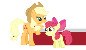 Applejack and Applebloom by dm29