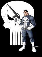 PUNISHER ready for war by Chadfuller