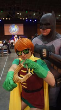 Carrie Kelley and Batman by OCCxHarleyRider