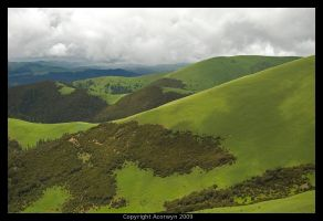 The rolling hills in the sky by acorwyn